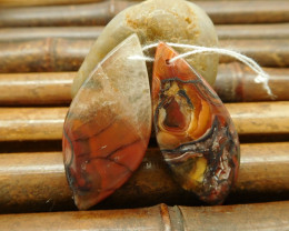 Crazy lace agate rosetta stone earring pairs for jewelry (G0131)