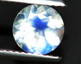 1.17Ct Natural Blue Moon Stone Round 7mm Faceted