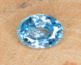 Natural Blue Zircon 1.55 Cts Top Luster Gemstone