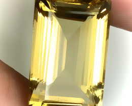 ⭐ 30.30ct BRIGHT GOLDEN YELLOW TONED CITRINE  - VVS