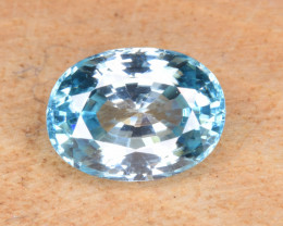 Natural Blue Zircon 3.10 Cts Top Luster Gemstone