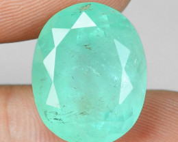 11.30 Cts EARTH MINED GREEN COLOR NATURAL COLOMBIAN EMERALD LOOSE GEMSTONE