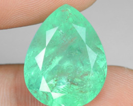 14.10 Cts EARTH MINED GREEN COLOR NATURAL COLOMBIAN EMERALD LOOSE GEMSTONE