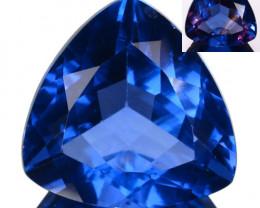 8.26Ct Natural Color Change Fluorite Trillion Cut