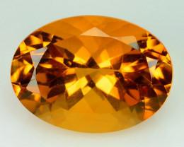 5.68Cts Natural Citrine Golden Orange 14x10 mm Oval Cut Brazil