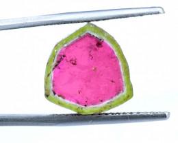 9.40 carats Watermelon Tourmaline Slice