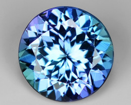 1.45 Cts Tanzanite Faceted Gemstone Awesome Color & Cut TZ25