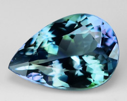 2.14 Cts Tanzanite Faceted Gemstone Awesome Color & Cut TZ38