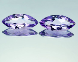 4.57 Ct Natural Purple Amethyst Matching Pair Marquise