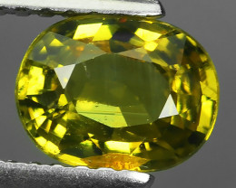 1.20 Cts_Shimmering_Oval Cut_Fine Yellowish Green_Sizzling_Chrysoberyl_