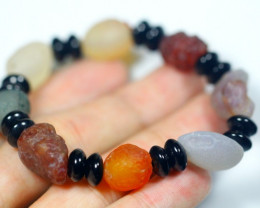 135.5Ct Natural Candy Agate Bracelet