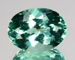 ~BEAUTIFUL~ 1.63 Cts Natural Apatite (Paraiba Color) Oval Cut Brazil