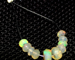 2.40 Crts Natural Ethiopian Welo Faceted Opal Beads Demi Strand 19