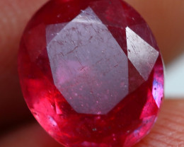 2.90cts Extremely Blood Red Ruby Gemstone