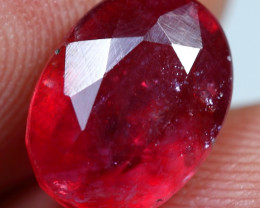 4.65cts Sparkling Red Ruby Gemstone