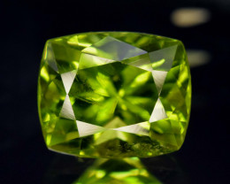 6.05 Carats Top Grade Cushion Cut Natural Olivine Green Natural Peridot