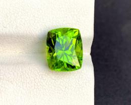 6.05 Carats Top Grade Cushion Cut Natural Olivine Green Natural Peridot