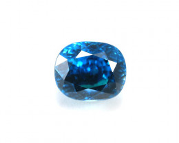 Certified Top Quality 15.02ct Natural Blue Cambodian Zircon