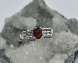 GARNET RING 925 STERLING SILVER NATURAL GEMSTONE JE1851