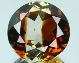 Natural South American Champagne Topaz 11 mm Round Brazil 5.64 Cts