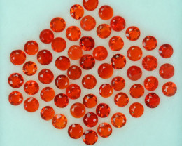 2.54Ct Natural Mexican Fire Opal 3mm Round Parcel