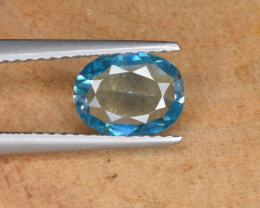 Natural Blue Zircon 1.20 Cts Top Luster Gemstone