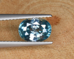Natural Blue Zircon 1.84 Cts Top Luster Gemstone