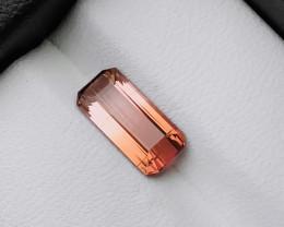 1.85 Ct Natural Bi Color Pinkish  Transparent Tourmaline loose Gem
