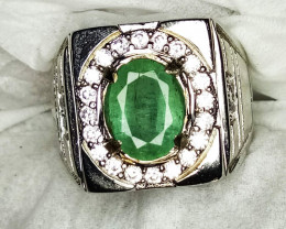 Natural Emerald Beryl Ring*