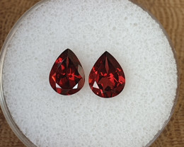 3,80ct Rhodolite garnet pair