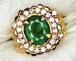Natural Emerald Ring Handmade