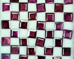 23.54Ct Natural Purple Rhodolite Garnet Baguette 5 mm Parcel
