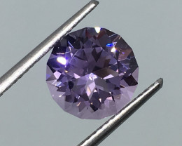2.80 Carat IF Amethyst Rose De France Master Cut Wow Quality!
