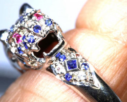 18.30 CTS  BLUE SAPPHIRE AND RUBY RING    SG-2902
