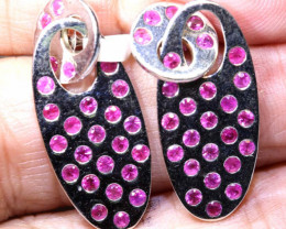 26.15 CTS BEAUTIFUL RUBY EARRINGS SG-2905
