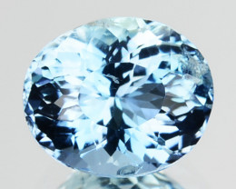 Santa Maria Blue 0.55 Cts Natural Aquamarine Oval Brazil Amazing Color