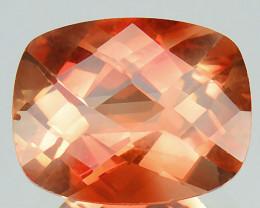 ~RARE~ 1.65 Cts Natural Sunset Orange Sunstone Andesine Cushion 9x7mm Congo