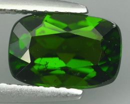 1.90 CTS~NATURAL ULTRA RARE CHROME GREEN DIOPSIDE CUSHION RUSSIA GEM!!