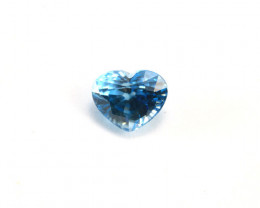 CERTIFIED 3.97ct HEART-SHAPED BLUE ZIRCON