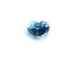 CERTIFIED 3.97ct HEART-SHAPED BLUE ZIRCON