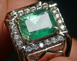 55.60 CT Octagon Zambian Emerald Ring Jewelry