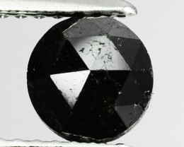 0.98 Cts Natural Coal Black Diamond Round Rose Cut Africa