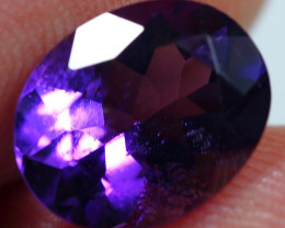 3.10cts Perfect Africa Amethyst Faceted Cutting Gemstone