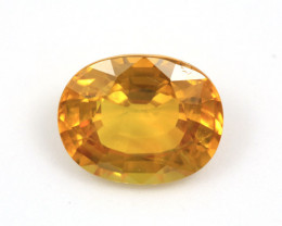 CERTIFIED 5.54ct. YELLOW SAPPHIRE OVAL CUT