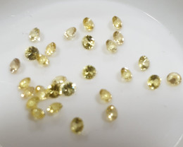 Calibrated Yellow Sapphire Lot Round Brilliant Cut 2mm(SKU 58)