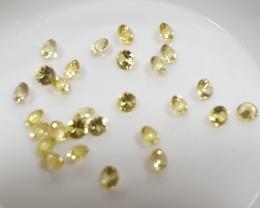 Calibrated Yellow Sapphire Lot Round Brilliant Cut 2mm(SKU 58)