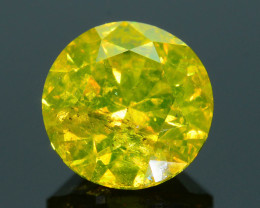 AIG Certified  1.11 ct I1 Clarity Golden Diamond SKU-11