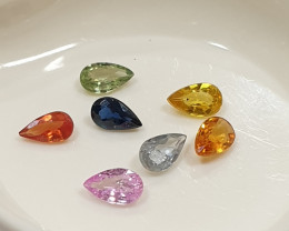 Multi Sapphire Lot Pear Drop Cut 5x3mm(SKU 62)