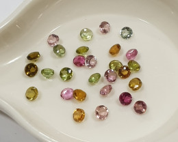 Tourmaline Lot Round 2.5mm Brilliant Cut(SKU 83)