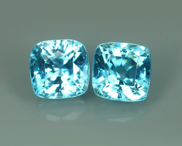 4.85 CTS ATTRACTIVE ULTRA RARE NATURAL BLUE ZIRCON CUSHION EXECLLENT!!